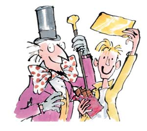 Sir Quentin Blake and Roald Dahl