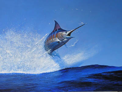 Blue Marlin Fish Art