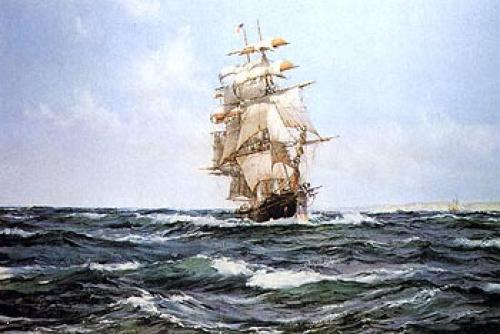 Blue Sailboat Paintings