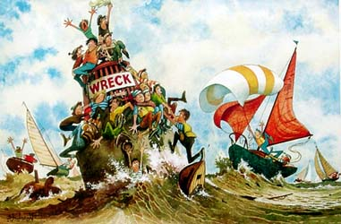 Norman Thelwell - the Sailing Cartoons