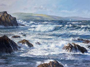 Seascape paintings by Roy Cross RSMA